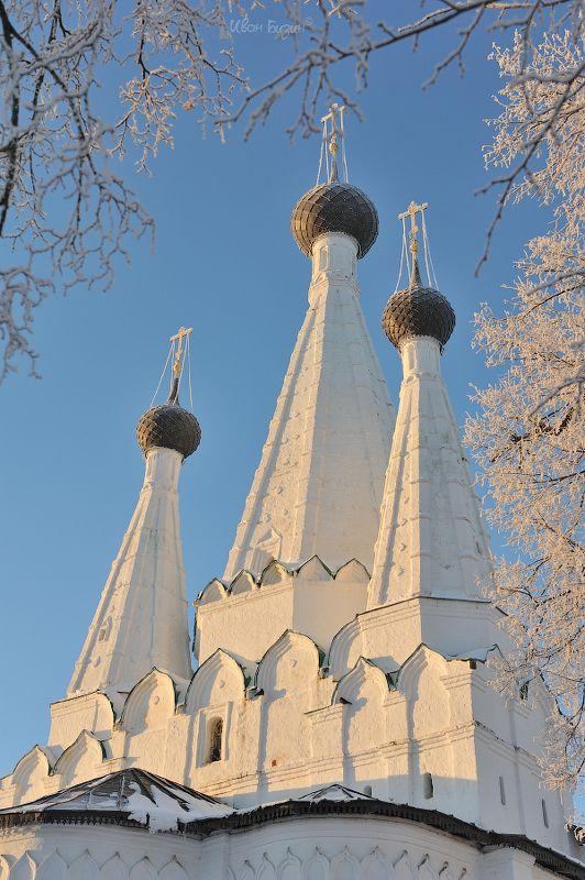 Углич, церковь, иней, мороз, зима Дивная photo preview