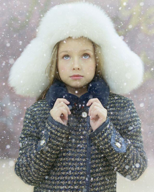 снег, зима, портрет, девочка, вика Девочка и снегphoto preview