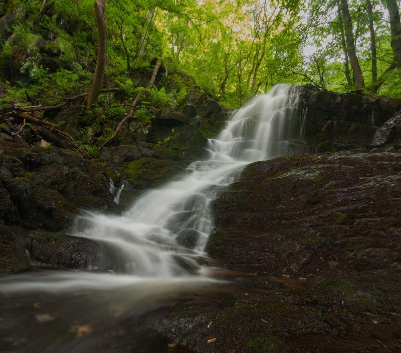 водопад, вода,  water, waterfall, landscape, nature, forest, nikon  Водопадphoto preview