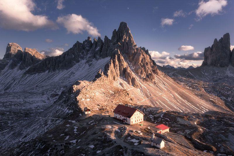 Dolomites, Trecimedilavardo, Italy  Moon symmetryphoto preview