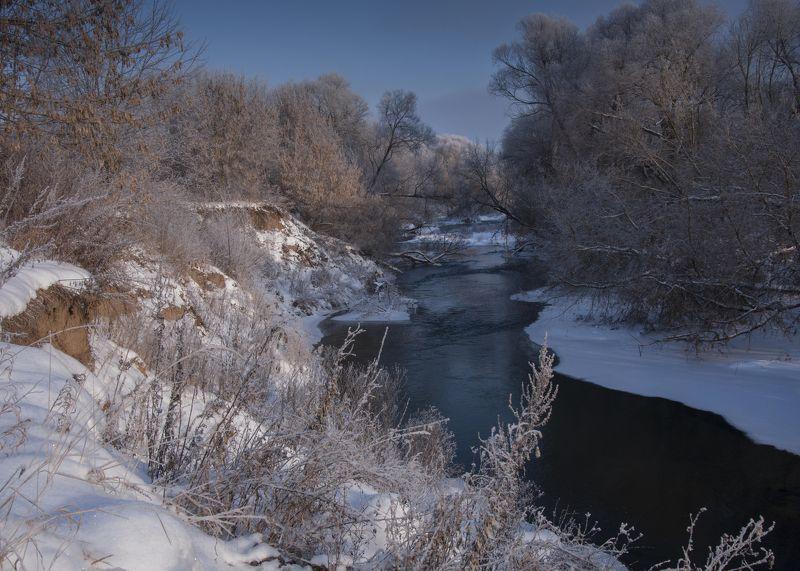 река,зима,подмосковье,снег photo preview