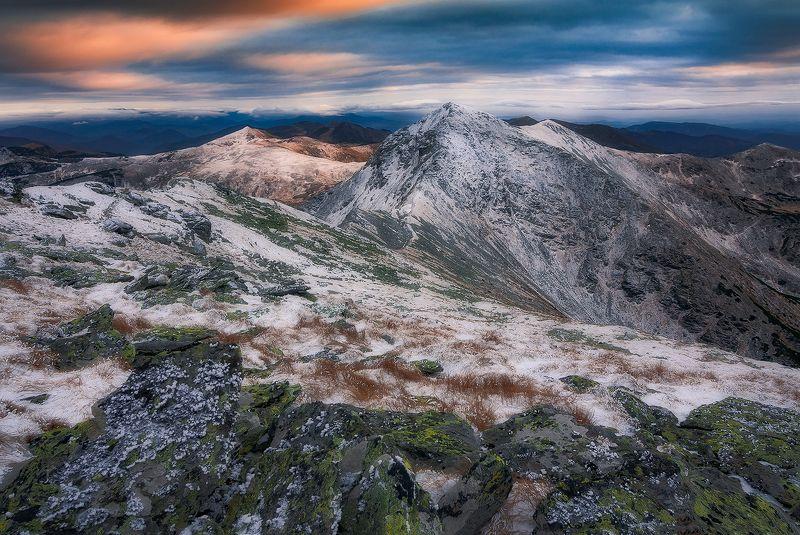 rodnei, romania, landscape, sunset, mountain, winter White Fangphoto preview