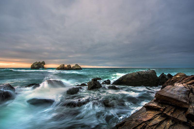 крым, море, волны, утро, скалы Море волнуется.photo preview