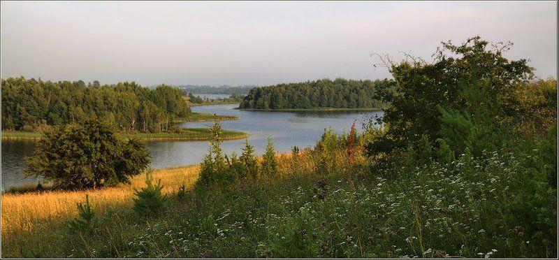 лето, озеро, берега, утро Воспоминание о летеphoto preview