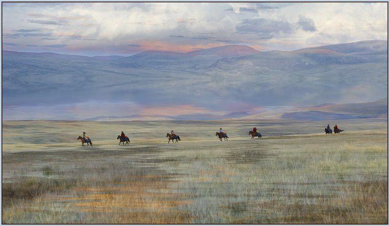 укок,конники,плоскогорье В поисках Беловодья...photo preview
