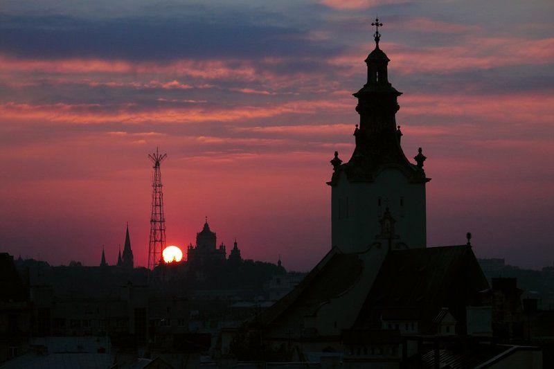 львов, львів, lviv, lemberg, leopolis, закат Город Легендphoto preview
