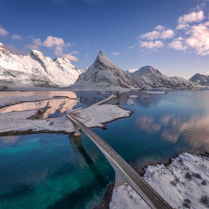 norway, lofoten, lofoten islands,  dji, phantom 4, Мосты Фредванг.photo preview
