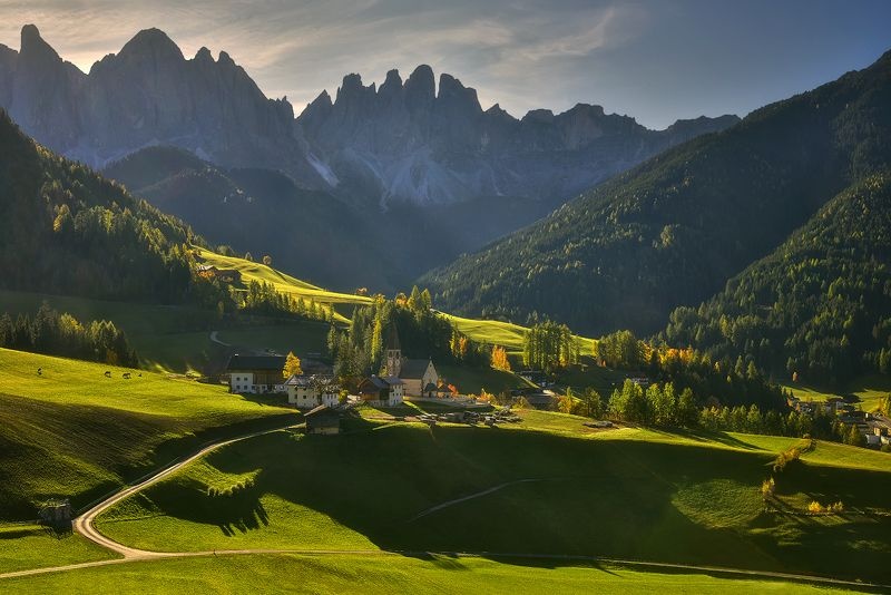 mountains, dolomites, italy, village, alps ST. Magdalenaphoto preview