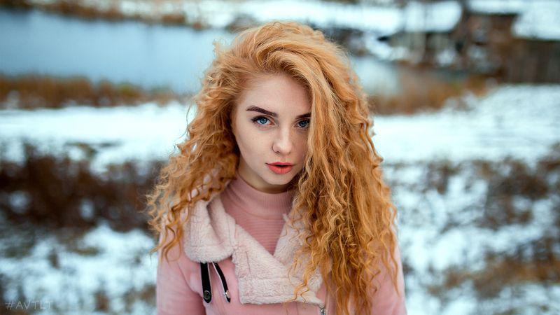 рыжая, портрет, зимнее фото, зимний портрет, рыжие волосы, естественный свет Храбрая сердцем )photo preview