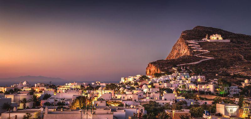 greece, folegandros, sunrise, sky, landscape, cyclades, island, sea, city, panorama Folegandros Islandphoto preview