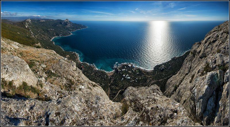 крым, осень, бухта ласпи, панорама *  *  *photo preview