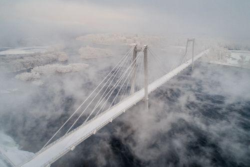 Виноградовский мост. Зима