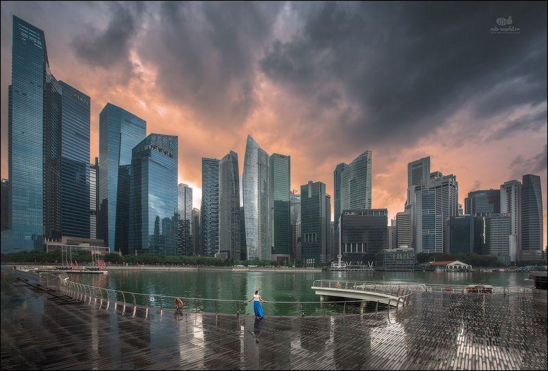 Сингапур, фототур, город, закат Одна в большом городеphoto preview