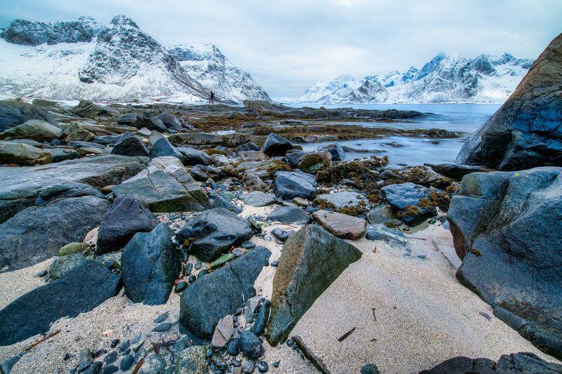 lofoten, winter Rocksphoto preview