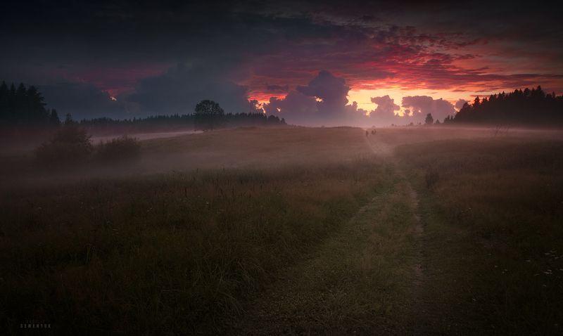 карелия, яккима, закат, поле, настроение, туман, облачность, после дождя, landscape, karelia, mood, fog, sunset, clouds. После вечернего ливня.photo preview