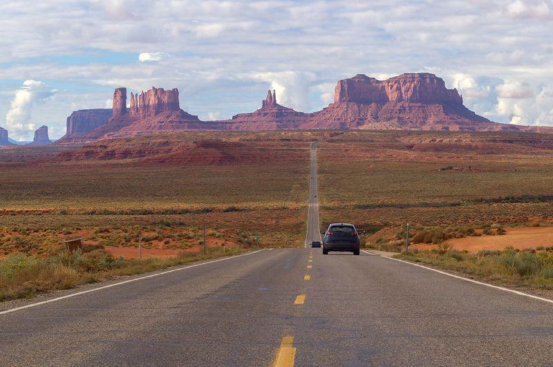 пейзаж, дорога, навахо, парк, Юта, США По дороге к Долине Монументов, Юта, СШАphoto preview