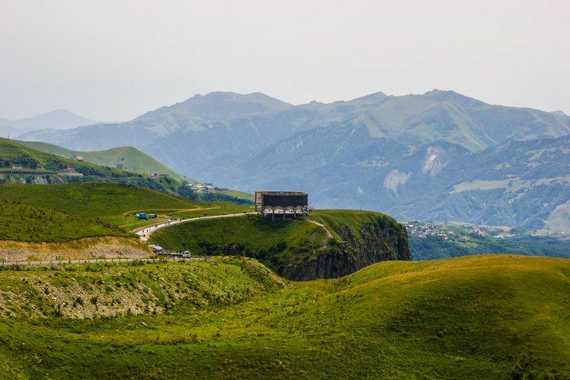 горы, кавказ, высота, смотровая площадка, лето, мощь В горных пейзажахphoto preview