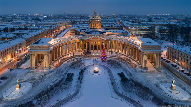 россия, петербург, санкт-петербург, город, архитектура, зима Казанский соборphoto preview