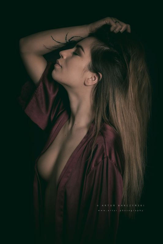 Portrait girl  nude Carolinephoto preview