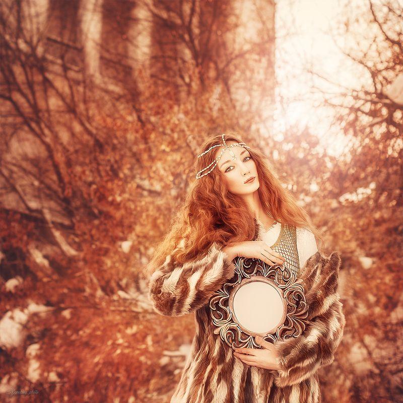 девушка, портрет, зима, красный, солнце, рыжые волосы, рыжеволосая, винтаж, girl, portrait, red, red hair, ginger, vintage, winter photo preview