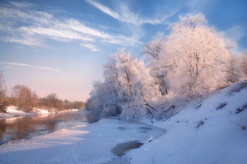 зима,река,мороз зимний денёкphoto preview