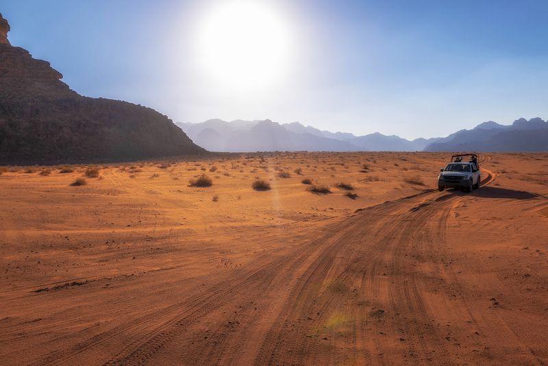 пустыня, вечер, иордания, декабрь \
