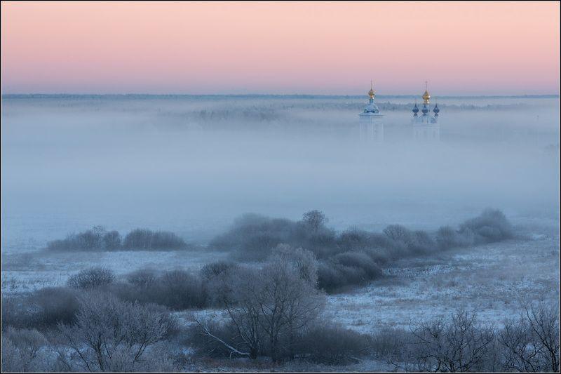 россия, ивановская обл, дунилово Зима в тумане утонулаphoto preview