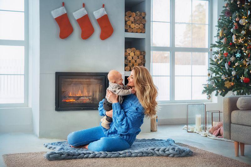 Дом, семья, рождество, ребенок Рождествоphoto preview