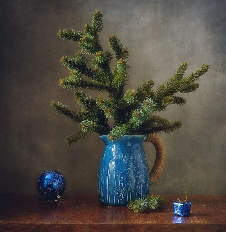натюрморт,кувшин,елка,праздник,новый год ...photo preview