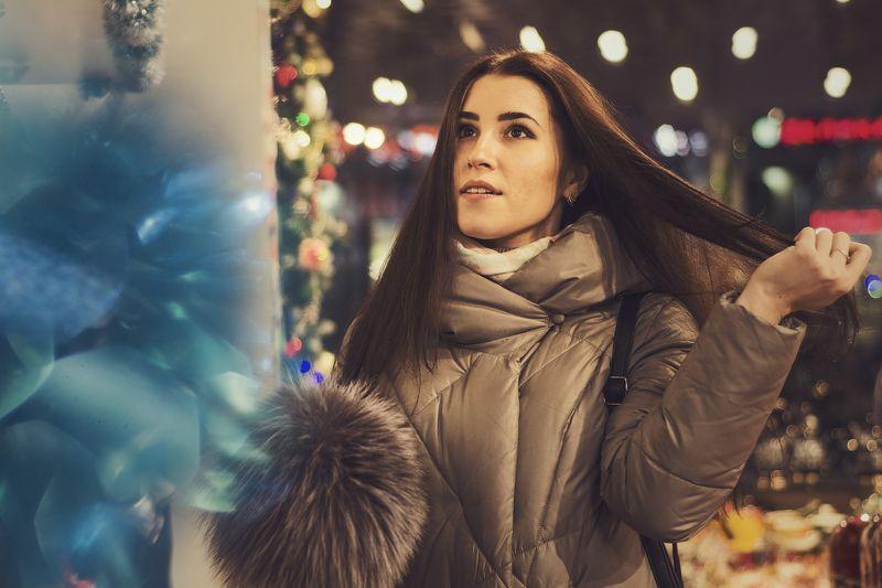Портрет, девушка, модель, Казань ,лицо Новогоднее настроениеphoto preview