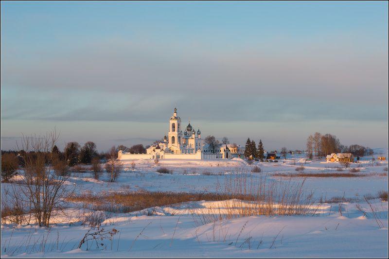 россия, ивановская обл, антушково, погост крест Зимний вечер в Антушковоphoto preview