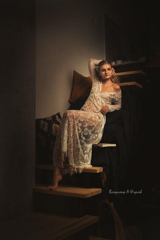 девушка, нюарт, портрет, студия Александраphoto preview