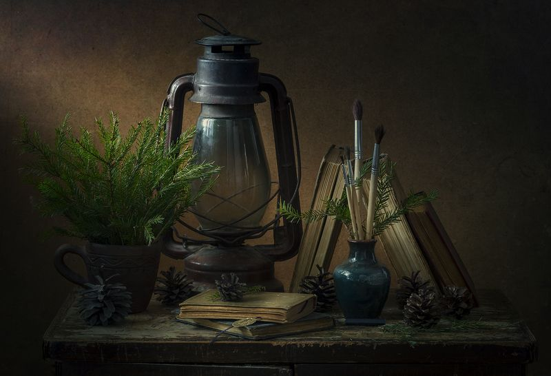натюрморт,старая лампа ***photo preview