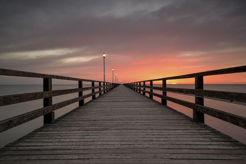 pier, sea, balitic, beach, sunrise Before sunrisephoto preview