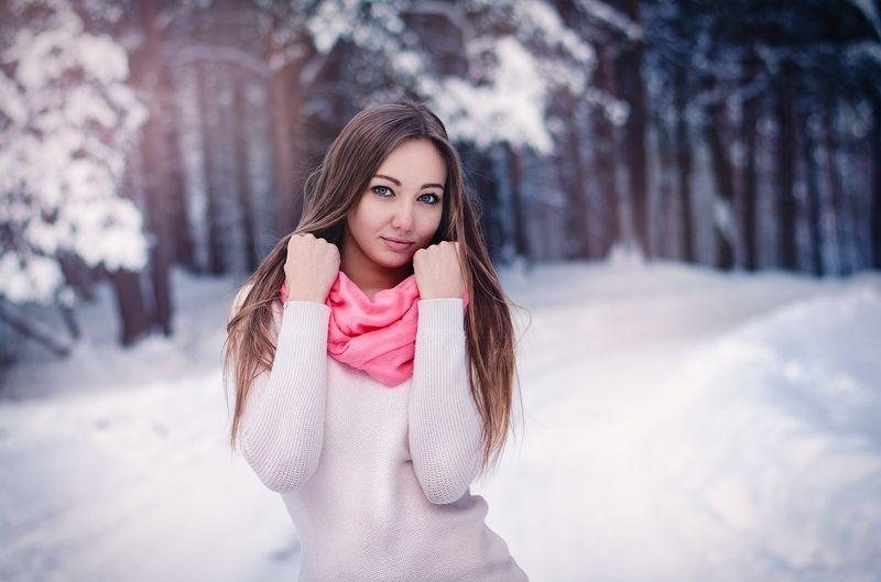 портрет, зима, модель, фотосессия Зимняяphoto preview