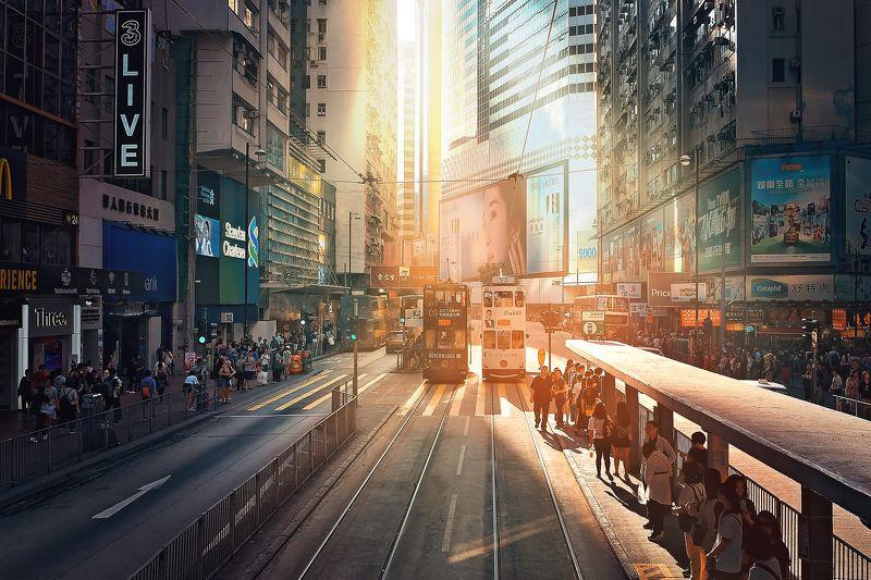 Гонконг на закатеphoto preview