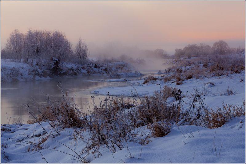 россия, ивановская обл, дунилово, горицы Зимняя рекаphoto preview
