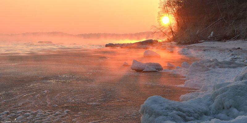 балтийское море, пейзаж, рассвет, зима Утро Рождестваphoto preview