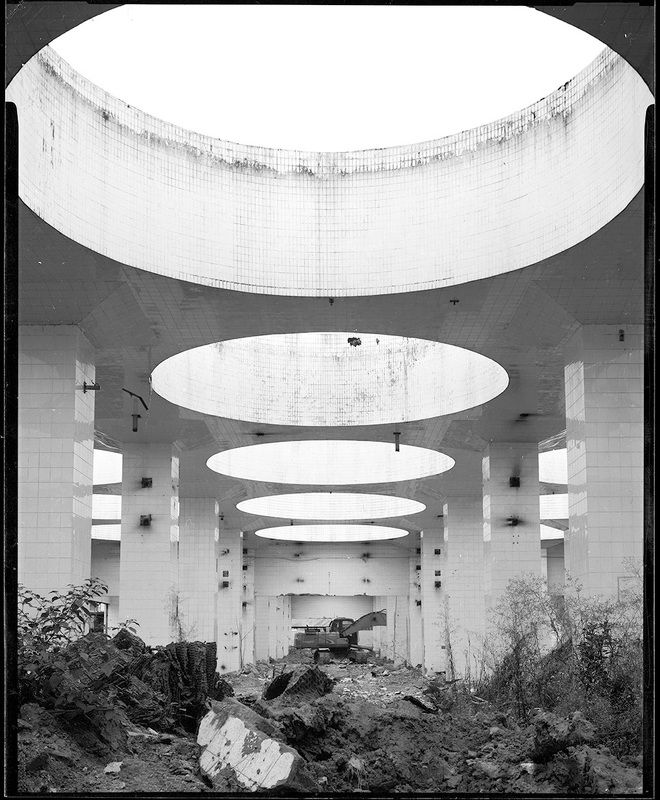 ruins black & white photo preview
