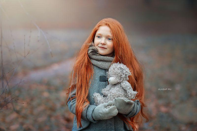 портрет, девочка, girl, лес, сказка, волшебство, magik, рыжая, рыжик, red, зима, winter, грусть ***photo preview