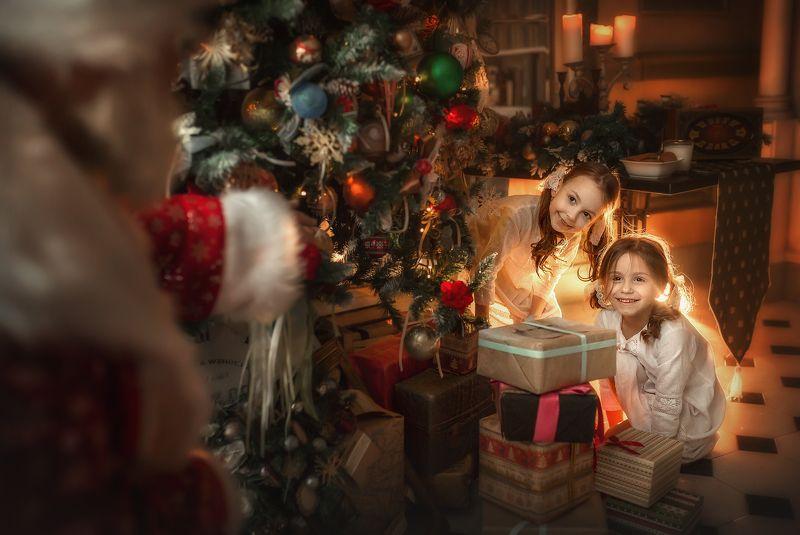 новый год, дед мороз, поймать деда мороза, под елочной, подарки Поймать деда морозаphoto preview