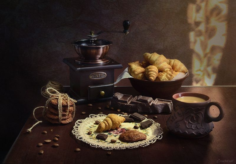 композиция натюрморт,свет,зерно,кофе,печенье Кофейныйphoto preview