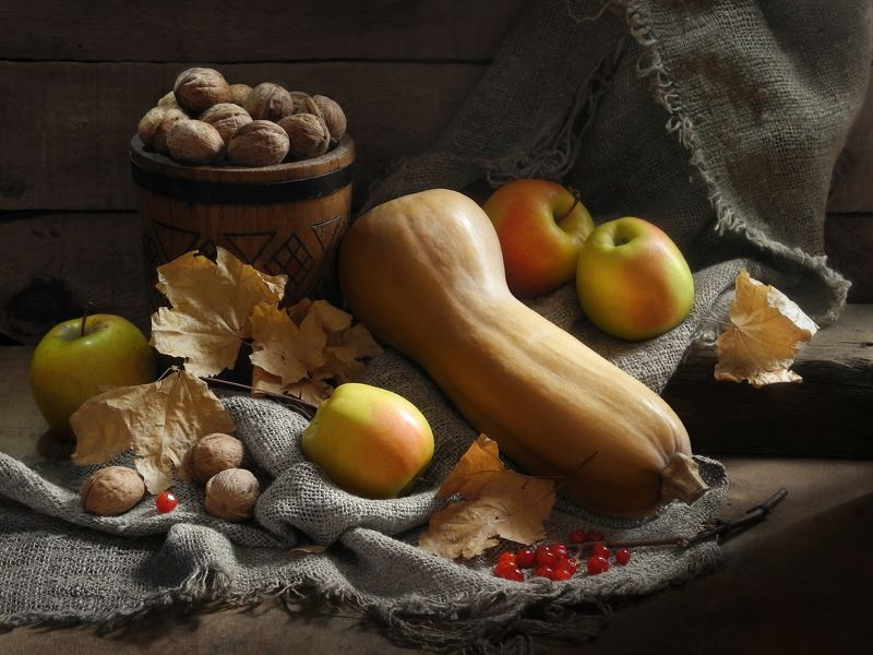 овощи тыква орехи осень Осенний сбор.photo preview