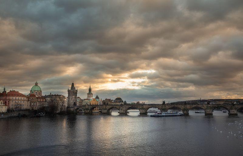 прага, город, архитектура, cityscape, praha Вечерняя Прагаphoto preview