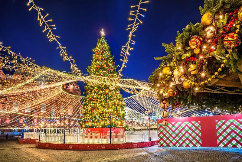 москва, новый год Новогодняя елкаphoto preview