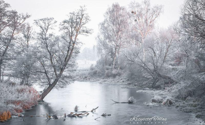 winter,nature,fog,frozen,landscape,sky,trees,light,morning,nikon,river,gwda,mist, Frozen landscapephoto preview
