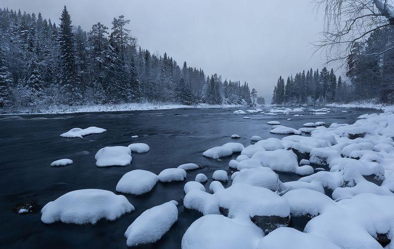 паанаярви, карелия, зима Река Олангаphoto preview