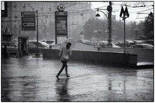 Дождь на Тверской...