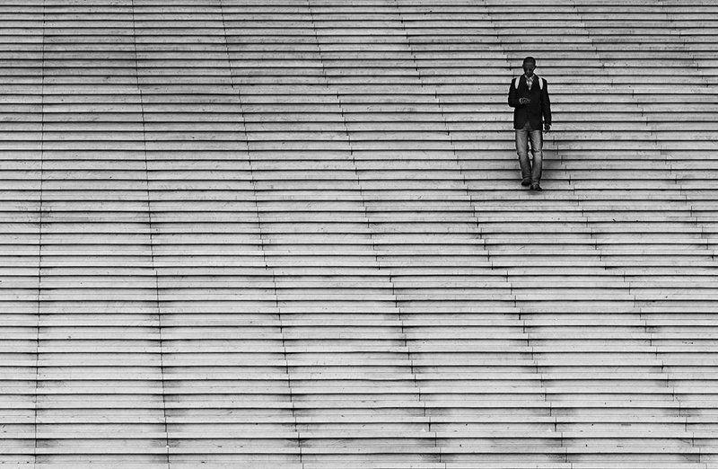 париж, лестница, геометрия, defense Городские линииphoto preview