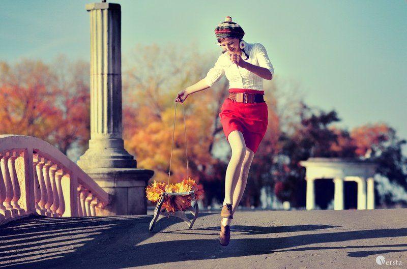 зима, осень, санки, любов, смех, радость Осінній експресphoto preview